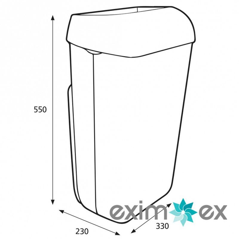 91899_92261_katrin_waste_bin_with_lid_25_litre_white_measurements